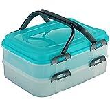 COM-FOUR - Partycontainer Muffinbox Cupcakebox mit 2 Etagen und Hebeeinsatz