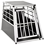 TecTake Alu Hundetransportbox -Diverse Gren- (Single Gro)