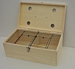 Transportbox aus Holz für Züchter 2-fach